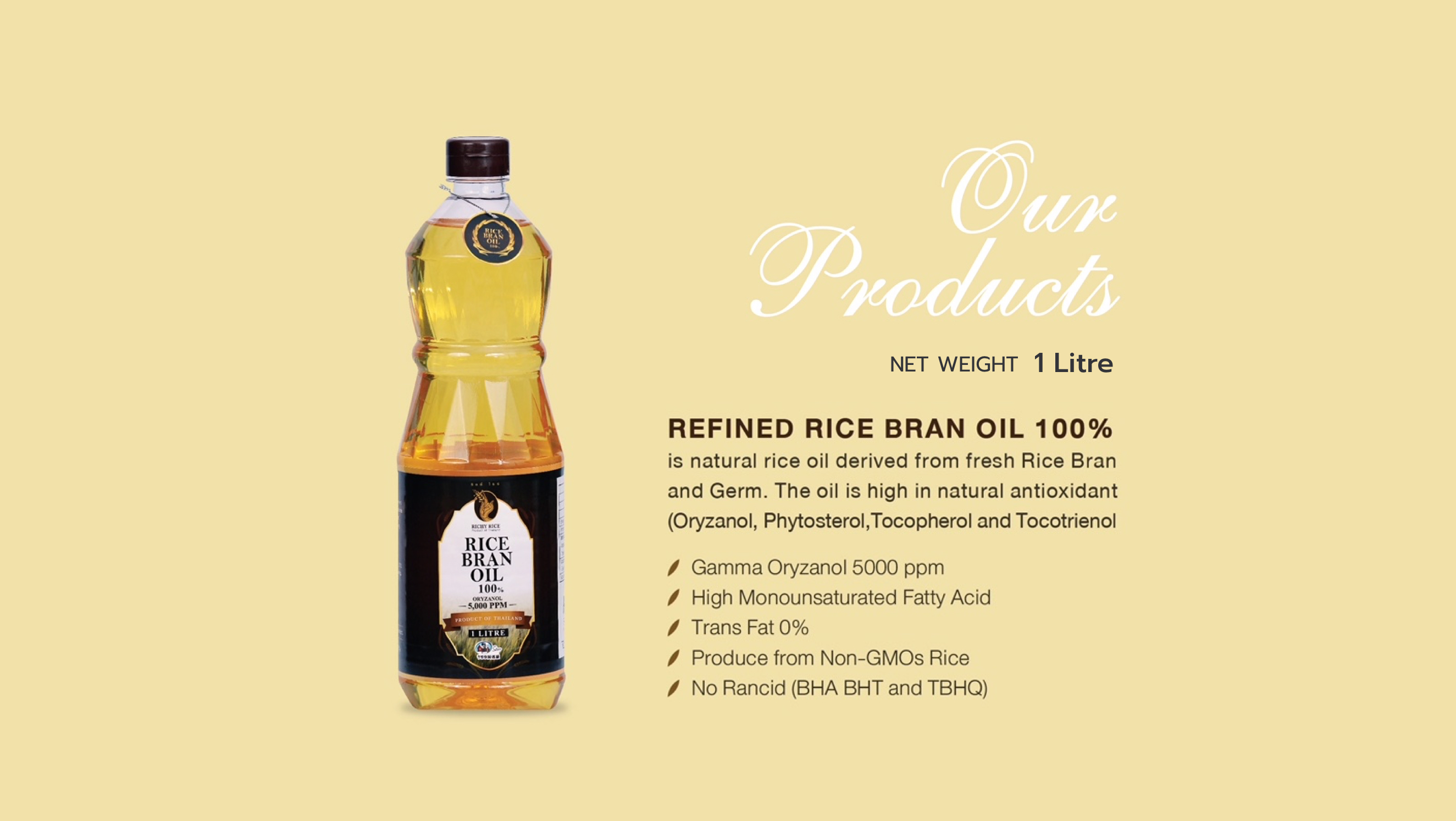 Refined Rice Bran Oil 1 Lite.