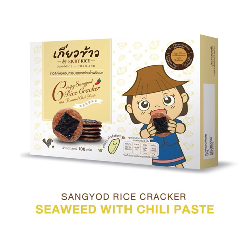 Sangyod Rice Cracker – Seaweed With Chili Paste 100 g.