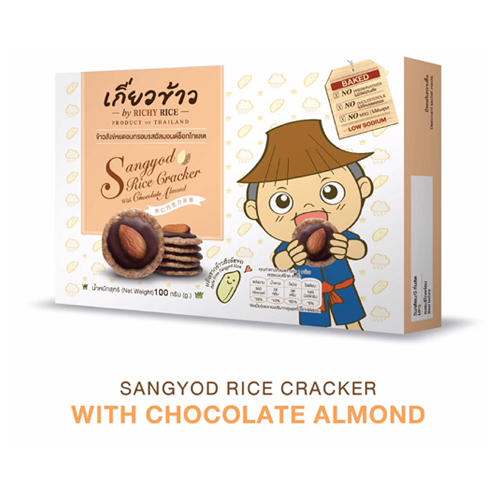 Sangyod Rice Cracker – With Chocolate Almond 100 g.