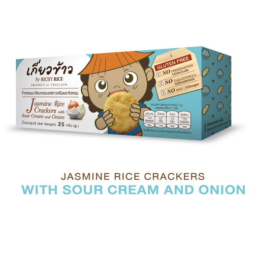 Jasmine Rice Crackers – With Sour Cream And Onion 25 g.